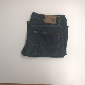 American Eagle Slim Straight Dark Denim Jeans